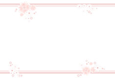 Pastel-colored flower frame. Frame decorated with pastel-colored flowers in soft pink and white vector illustration