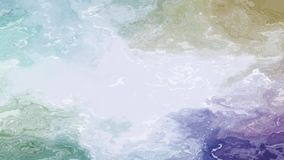 Pastel colored flowing water. Soft colored moving splashes. Or liquid. Seamless loop stock video footage