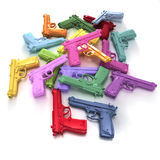 Pastel colored guns Royalty Free Stock Photography
