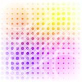 Pastel colored halftone pattern Stock Image