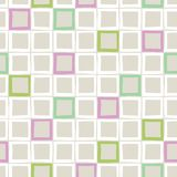 Pastel-colored Hand-Drawn Plaid Vector Seamless Pattern. Whimsical Modern Classic Tartan Background stock illustration
