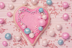 Pastel colored heart Stock Photos