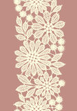 Pastel Colored Lace. Vertical Seamless Pattern. Stock Images
