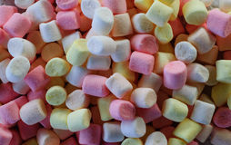 Pastel colored marshmallows as background.  Stock Photography