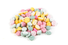 Pastel colored mint chips Royalty Free Stock Image