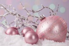 Pastel colored ornaments stock photo