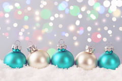 Pastel colored ornaments Royalty Free Stock Photo