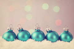 Pastel colored ornaments royalty free stock image
