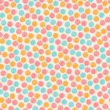 Pastel colored pink chaotic striped dots and spots abstract seamless pattern, vector. Background Stock Photography