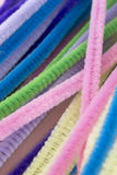 Pastel colored pipe cleaners. This is a photograph of Pastel colored pipe cleaners Royalty Free Stock Images