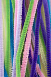 Pastel colored pipe cleaners Royalty Free Stock Image