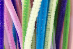 Pastel colored pipe cleaners. This is a photograph of Pastel colored pipe cleaners Royalty Free Stock Photos