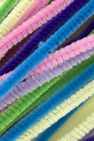 Pastel colored pipe cleaners. This is a photograph of Pastel colored pipe cleaners Royalty Free Stock Photography