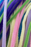 Pastel colored pipe cleaners. This is a photograph of Pastel colored pipe cleaners Stock Photography