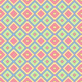 Pastel colored seamless pattern texture background - baby pink, blue, yellow, green and orange colors Stock Photo