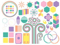 Pastel colored shapes Royalty Free Stock Photos