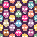 Pastel colored skull background Royalty Free Stock Photos