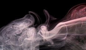 Pastel colored smoke Stock Photos