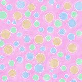 Pastel colored spots on pink background Stock Photography