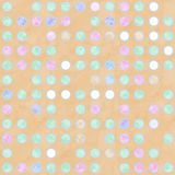 Pastel colored spotted  background. Pastel colored spots on warm tan background Stock Image