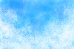 Pastel colored summer blue sky abstract or vintage watercolor paint background. Pastel colored summer blue sky abstract or grunge vintage watercolor paint Royalty Free Stock Photos