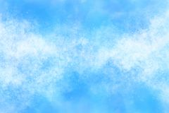 Pastel colored summer blue sky abstract or vintage watercolor paint background. Pastel colored summer blue sky abstract or grunge vintage watercolor paint Royalty Free Stock Image