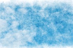 Pastel colored blue sky abstract on vintage watercolor paint background. Pastel colored summer blue sky abstract on vintage watercolor paint background royalty free illustration