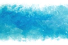 Pastel colored blue sky abstract on vintage watercolor paint background. Pastel colored summer blue sky abstract on vintage watercolor paint background stock illustration