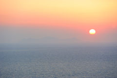 Pastel colored sunset Royalty Free Stock Image