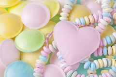 Pastel colored sweets royalty free stock image