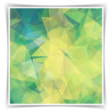 Pastel colored Triangular Polygonal pattern Stock Images