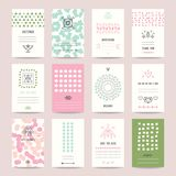 Pastel Colored Wedding Invitation, Birthday Cards royalty free illustration