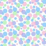 Pastel colorful bubbles green pink blue purple pattern seamless stock illustration