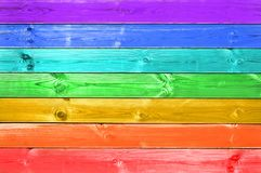 Pastel colorful rainbow painted wood background, gay flag concept Royalty Free Stock Photography