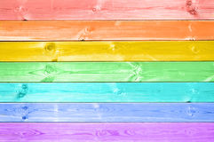 Pastel colorful rainbow painted wood planks Royalty Free Stock Images