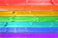 Pastel colorful rainbow painted wood planks background, lgbt concept. Pastel colorful rainbow painted wood planks background, lgbt flag concept royalty free stock photography
