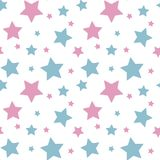 pastel colorful star pink blue on white background pattern seamless vector royalty free illustration