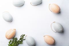 Easter decorations. Festive composition on a white background. stock images
