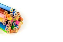 Pastel colorido en el fondo blanco Fotos de archivo libres de regalías
