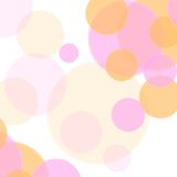 Pastel colors abstract minimal circles design. Vector background Royalty Free Stock Photography