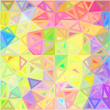 Pastel colors abstract triangles vector background Royalty Free Stock Photography