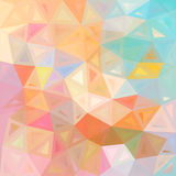 Pastel colors abstract triangles vector background Stock Images