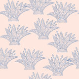Pastel Colors Aloe Vector Seamless Pattern Royalty Free Stock Image
