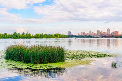 Late afternoon on the Dnieper River in Kiev Royalty Free Stock Photo