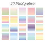 Pastel colors gradients collection. Vector set of gradients for Adobe Illustrator Stock Images