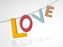 Pastel colors inscription love Stock Photo