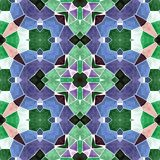 Pastel colors kaleidoscope mosaic seamless pattern texture background Stock Images