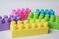 Pastel Colors Lego Royalty Free Stock Photos