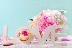 Pastel colors love background Stock Image