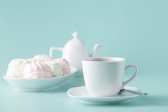 Pastel colors pink and white marshmallows Stock Photography